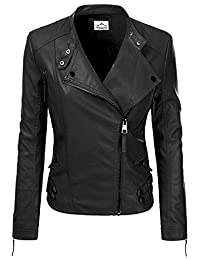 VearFit Women Jacqueline Red, Gray, Black Designer Real Lambskin Leather Jacket
