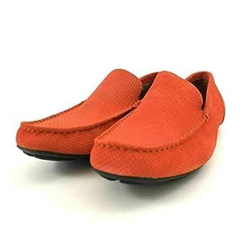Alfani Mens Kendric Textured Drivers (Orange, 10 M)
