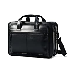 Samsonite Leather Expandable Briefcase, ...