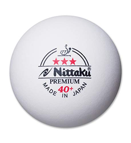Nittaku 3-stars Premium 40+ Table Tennis Ball (Pack of 12 balls)
