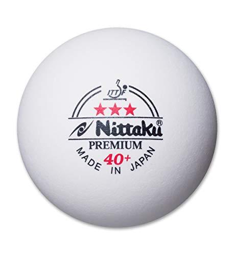 Nittaku NB-1300 3-stars Premium 40+ Table Tennis Ball (Pack of 12 balls)
