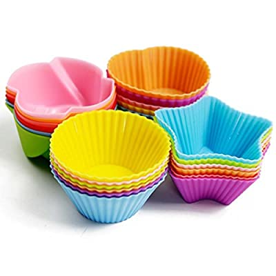 KAIL 24 Pcs Reusable Silicone Baking Cups -Cupcake Liners -Muffin Cups