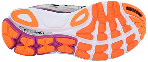 Pictures of Saucony Women's Triumph ISO Running Shoe Silver/Purple/Orange 7
