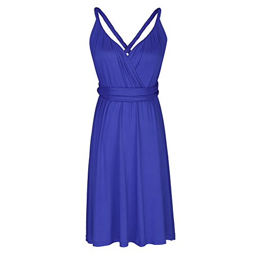 FYMNSI Evening Gown Cocktail Wrap Way Dress Multi Homecoming Royal Solid Blue Convertible Infinity Women's Short Transformer rSzqrp8w