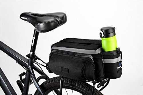 TopSun Roswheel Rear Seat Trunk Bag Handbag Bag Pannier for Bicycle Black by TOPSUN