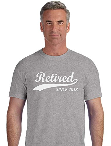 TeeStars Retired Since 2018 - Retirement Gift Idea T-Shirt X-Large Gray