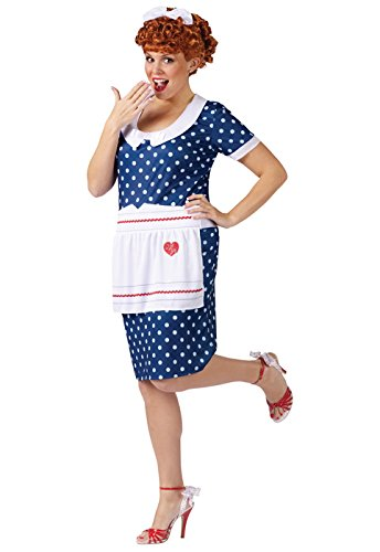 Halloween Costume Celebrity (I Love Lucy Sassy Plus Size Adult Costume - Plus Size)