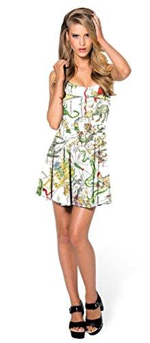 Patineur Sans Manches Soojun D'été Des Femmes Imprimé Robe Extensible Carte Clubwear # 57