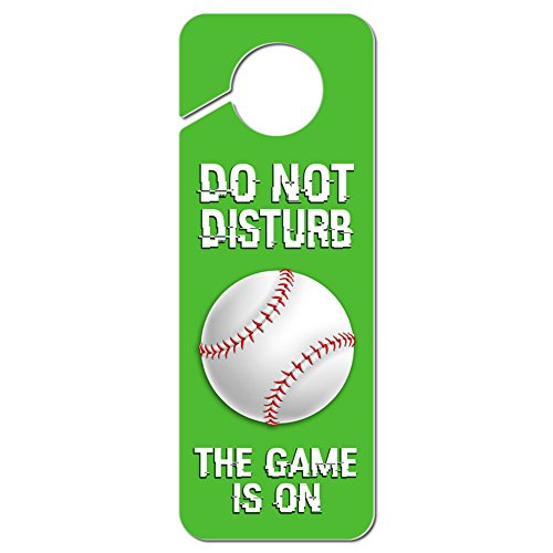 Graphics and More Do Not Disturb the Game is On Baseball Plastic Door Knob Hanger Sign