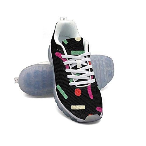 Faaerd Semplice E Scuro Minimalista Da Donna Traspirante Cuscino Daria In Rete Scarpe Sportive Da Corsa Allaria Aperta Sneakers Casual Leggero