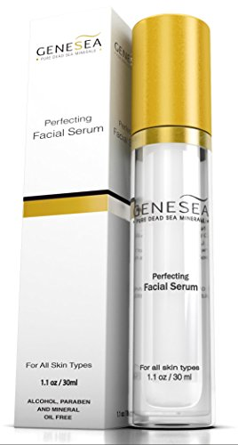Genesea Perfecting Serum for Face for a Tightening, Optimally Hydrating Sensation - Innovative Anti Aging Beauty Facial Serum - Promotes Youthful, Glowing Looking, Lifted Skin Appearance - 1.1 Ounce