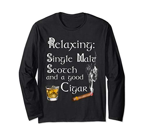 (Scotch Whiskey And Cigar Shirt Gift For Men)