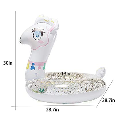 Happytime Cute Inflatable Llama Swim Ring Llama Pool Float Swimming Ring Summer Party Beach Toys for Toddles Kids: Toys & Games