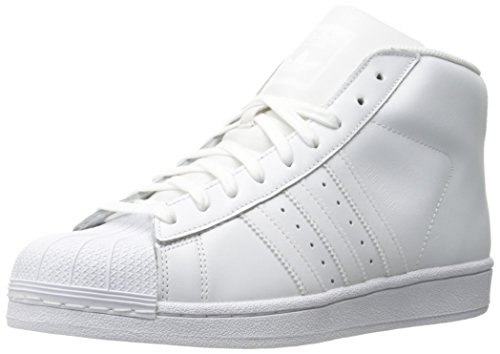 adidas Originals Men's Pro Model-m Fashion Running Shoe, White, (10.5 M US) (Adidas Pro Model Originals)
