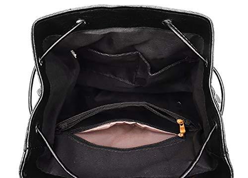 V1 bandoulière Sacs Sacs portés main Femme DEERWORD Sacs Noir V1 Faux dos portés Noir Cuir qx6CnBwA