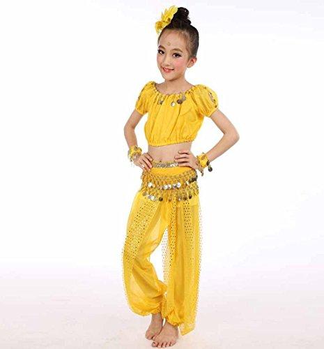 Jaune Fille Ventre De Ensembles D'enfants Amlaiworld Enfant Filles Mousseline Soie Costumes Danse Du D'egypte Vêtements Robe Bébé qwdawUAx