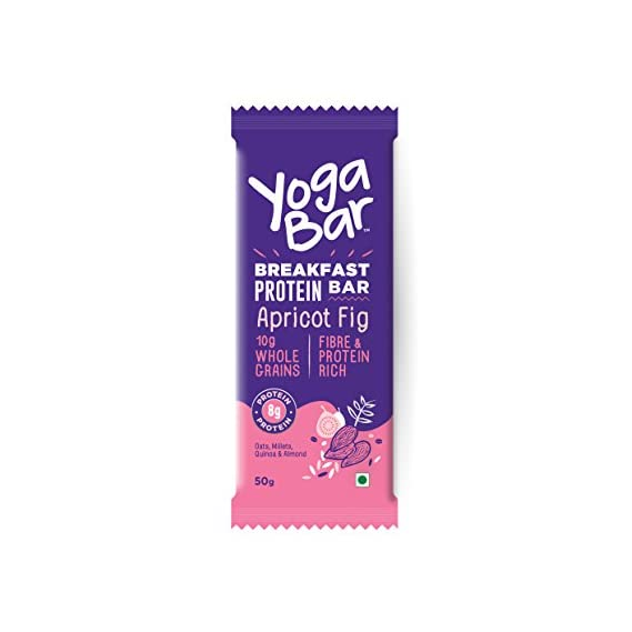Yogabars - Breakfast Protein Bars (Apricot and Fig, Single Pack)