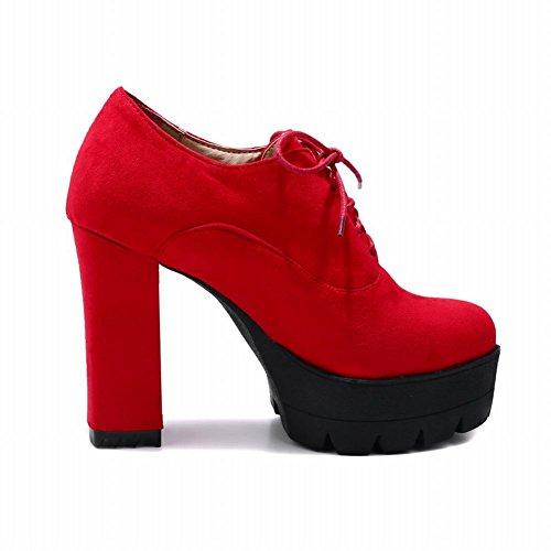 Stivaletti Da Donna Con Tacco Alto In Pelle Con Tacco Alto Carolbar Rosso