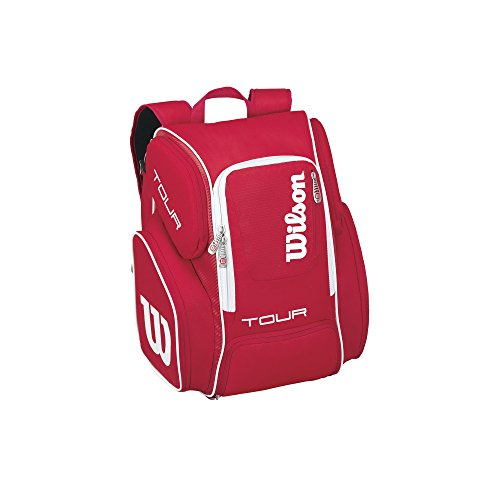 - Wilson Tour V Backpack, Red, Large