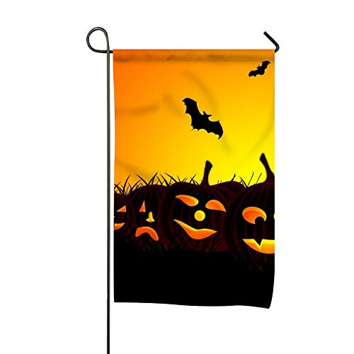 FunnyLife Halloween Bat Premium Garden Flag Decoration; Double