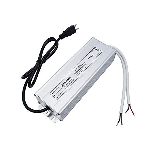 inShareplus LED Power Supply, 120W IP67 Waterproof Outdoor Driver,AC 90-265V to DC 24V 5A Low Voltage Transformer, Adapter with 3-Prong Plug for LED Light, Computer Project, Outdoor Use