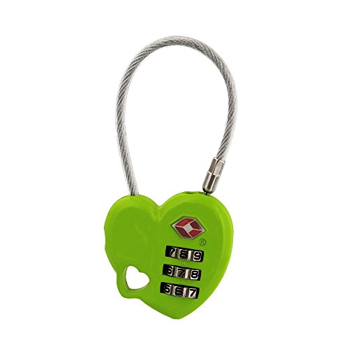 Lime Lock - MoDA Travel Easy to Use- TSA Recognized Resettable Combination Lock Luggage Travel Lock-Lime