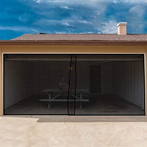 Pure Garden dos coche garaje puerta cortina de pantalla negro 202 x 90 pulgadas: Amazon.es: Jardín
