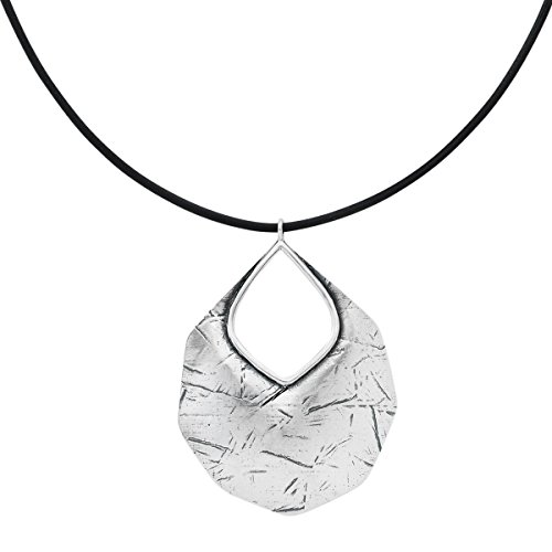 "Silpada 'Badge of Beauty' Leather and Sterling Silver Necklace, 18+2"" Extender"