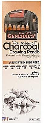 General's Charcoal Drawing Pencils Set 2 pcs sku# 1828080MA