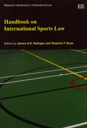 Handbook on International Sports Law (Research Handbooks in International Law series) (Elgar Original reference)