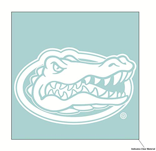 Wincraft NCAA University of Florida Gators 6 x 6 inch White Decal -