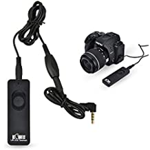 Kiwifotos Remote Switch Shutter Release Cord for Canon EOS Rebel T6/T7/T5/T3/T3i/T4i/T5i/T6i/T6s/T7i/SL1/SL2/XS,EOS 80D/70D/77D/60D,EOS M6/M5 and Other Cameras with Sub Mini Connection