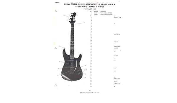Fender Heavy Metal Series Stratocaster St556 Hmr Hmm 258100 258102 Parts Listwiring Diagram Electronics Sunn Amazoncom Books: Fender Hm Strat Wiring Diagram At Shintaries.co