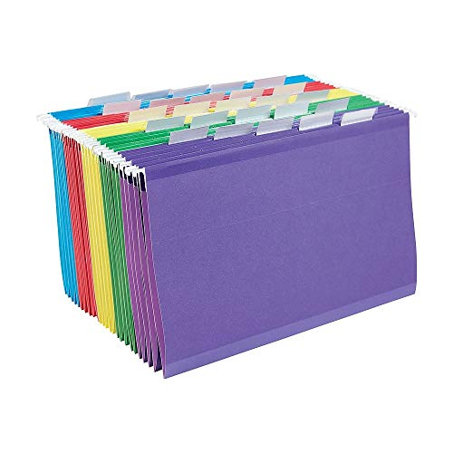 - Staples Colored Reinforced Hanging File Folders, Legal, 5 Tab, Assorted, 25/Box