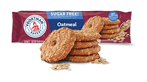 Voortman Bakery, Sugar Free Oatmeal Cookies, Delicious Sugar Free Cookie, 8oz Bag, Pack of 4 ()