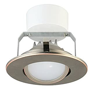 Lithonia Lighting 4 Inch LED Gimbal, Higher Lumen Version, 3000K, 500 Lumens, 7.7W, Oil Rubbed Bronze