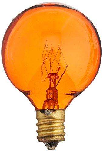 Bulbrite 10G12A 10W G12 Globe 130V Light Bulb, Amber