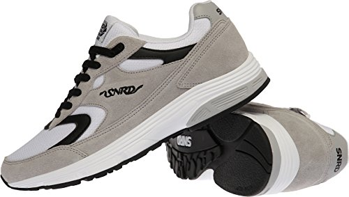 SNRD-714 Unisex Fashion Curved Sports Sneakers Shoes Gray Black KqPfU63