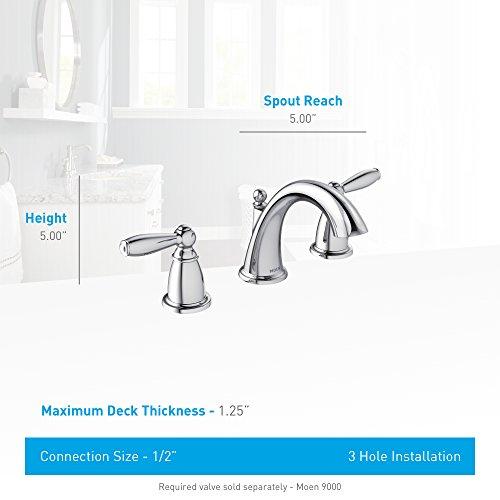 Moen Brantford Two Handle Low Arc Widespread Bathroom Faucet Import It All