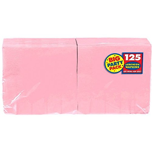 (New Pink Luncheon Paper Napkins Big Party Pack, 125)