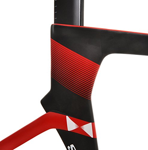 Full Carbon Fiber Matte Red Black Track Bike Road Bicycle Fixie Aero Frameset Stradalli SL 16 Pro Championship Frame English Threaded BSA Single Speed