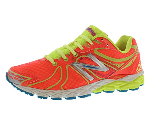 New Balance Women's W870 Mid Stability Running Shoe,Yellow/Coral,6 B US