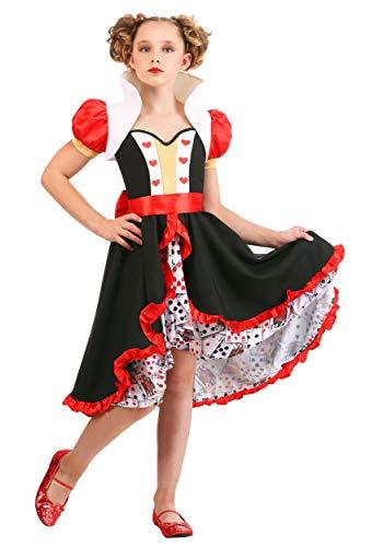 Queen Of Hearts Halloween Costumes For Girls (Frilly Queen of Hearts Girls Costume)