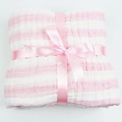 6 capas 110 * 110 cm Baby muselina paños toallas de baño suave ...