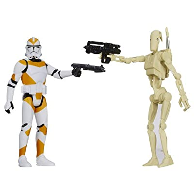 Star Wars, Mission Series Utapau Pack [Battle Droid and 212th Battalion Clone Trooper], 3.75 Inches