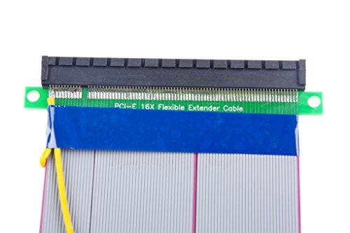 KNACRO PCI-E 16X Extension Cable 164-Pin Graphics Extension Cable External 12V Power Supply by KNACRO (Image #3)