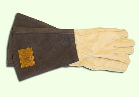 Rosenhandschuhe aus Leder mit Stulpe,1 Paar für Herren Gr 10