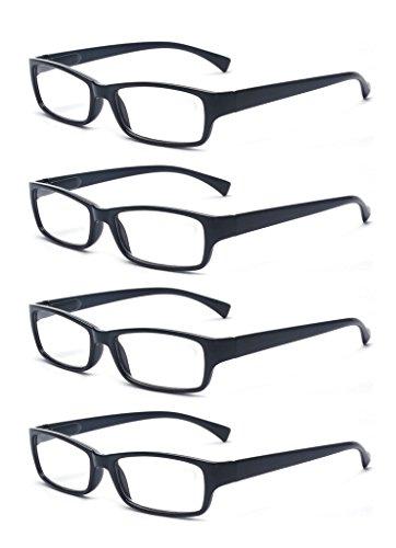 - Outray Men Or Women 4 Pack Spring Hinges Frame Rectangular Reading Glasses 2.00