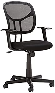 AmazonBasics Mid-Back Black Mesh Chair by Amazonbasics