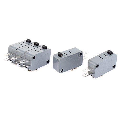 uxcell Momentary 1NO 1NC 3 Terminals Snap Action Miniature Micro Switch 5 Pcs Action Terminal